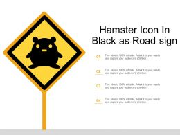 Hamster Icon In Black As Road Sign