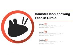 Hamster Icon Showing Face In Circle