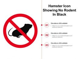 Hamster Icon Showing No Rodent In Black