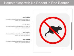 Hamster Icon With No Rodent In Red Banner