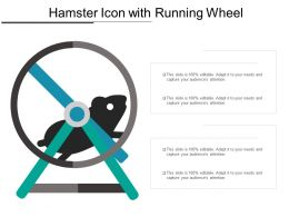 Hamster Icon With Running Wheel