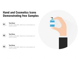Hand And Cosmetics Icons Demonstrating Free Samples