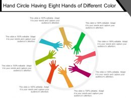 Hand Circle Having Eight Hands Of Different Color