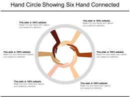 Hand Circle Showing Six Hand Connected