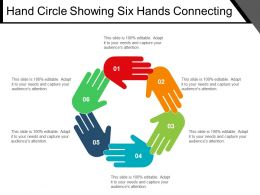Hand Circle Showing Six Hands Connecting