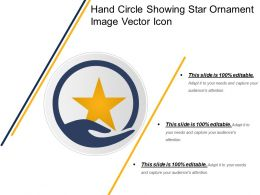 Hand Circle Showing Star Ornament Image Vector Icon