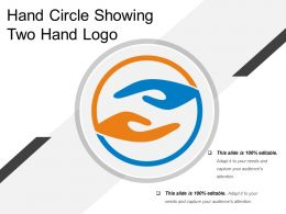 Hand Circle Showing Two Hand Logo