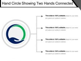 Hand Circle Showing Two Hands Connected