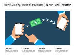 Hand Clicking On Bank Payment App For Fund Transfer