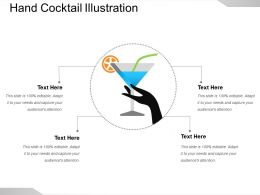 Hand Cocktail Illustration