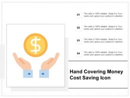Hand Covering Money Cost Saving Icon