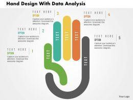 Hand Design With Data Analysis Flat Powerpoint Design