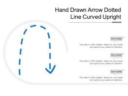 Hand Drawn Arrow Dotted Line Curved Upright