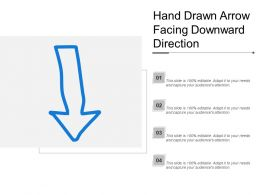 Hand Drawn Arrow Facing Downward Direction