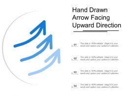 Hand Drawn Arrow Facing Upward Direction