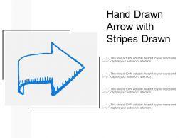 Hand Drawn Arrow With Stripes Drawn