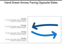 Hand Drawn Arrows Facing Opposite Sides