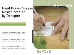 Hand Drawn Screen Design Created By Designer