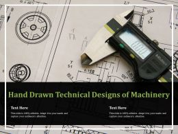 Hand Drawn Technical Designs Of Machinery