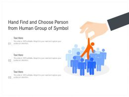Hand Find And Choose Person From Human Group Of Symbol