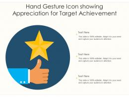 Hand Gesture Icon Showing Appreciation For Target Achievement
