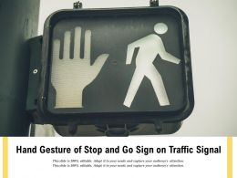 Hand Gesture Of Stop And Go Sign On Traffic Signal