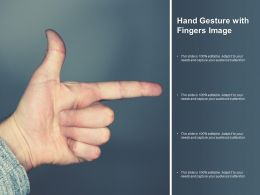 Hand Gesture With Fingers Image
