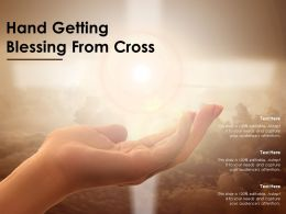 Hand Getting Blessing From Cross