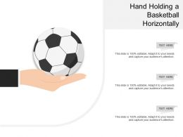 Hand Holding A Basketball Horizontally