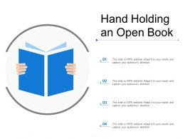 Hand Holding An Open Book