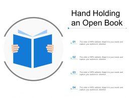 Hand Holding An Open Book
