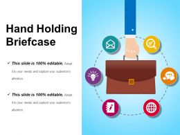 Hand Holding Briefcase Sample Of Ppt Presentation