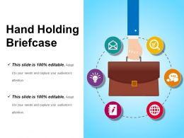 Hand Holding Briefcase Sample Of Ppt Presentation