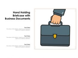 Hand Holding Briefcase With Business Documents