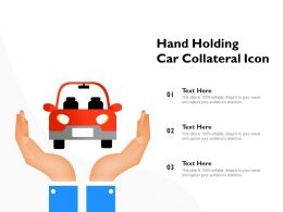 Hand Holding Car Collateral Icon