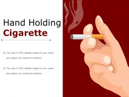 Hand Holding Cigarette Powerpoint Presentation Templates