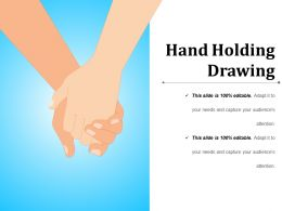 Hand Holding Drawing Powerpoint Slide Background