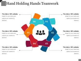 Hand Holding Hands Teamwork Powerpoint Slide Introduction