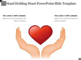 Hand Holding Heart Powerpoint Slide Template