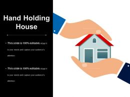 Hand Holding House Powerpoint Templates Microsoft