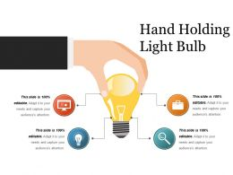 Hand Holding Light Bulb Powerpoint Slides