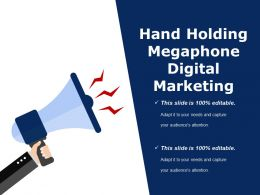 Hand Holding Megaphone Digital Marketing Presentation Examples