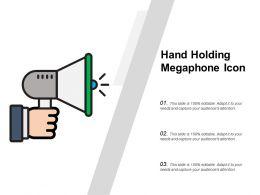 Hand Holding Megaphone Icon