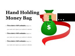 Hand Holding Money Bag Presentation Backgrounds