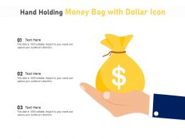Hand Holding Money Bag With Dollar Icon