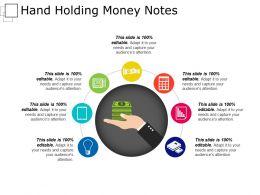 Hand Holding Money Notes Presentation Background Images