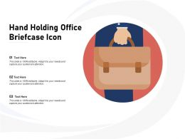 Hand Holding Office Briefcase Icon