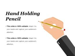 Hand Holding Pencil Ppt Sample Presentations