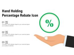 Hand Holding Percentage Rebate Icon