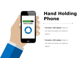 Hand Holding Phone Ppt Sample Download